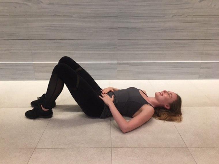 Eliza Tollett ballerina at-home workout