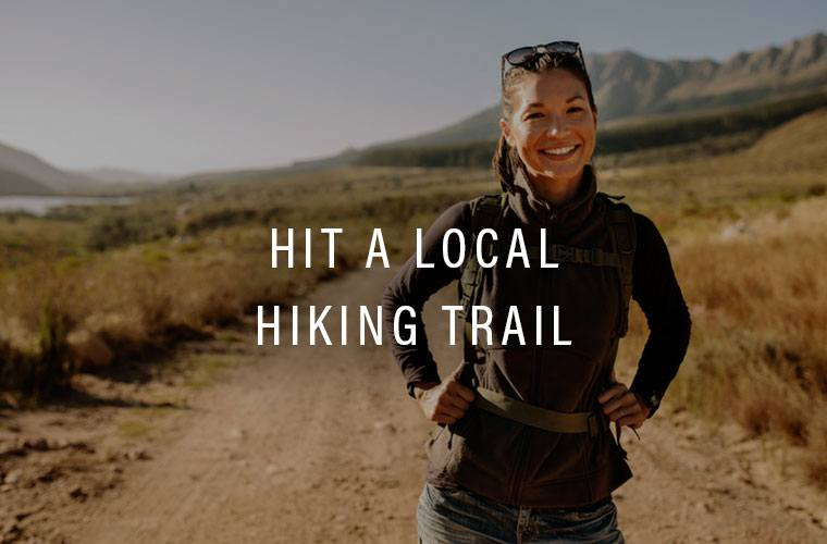 Hiking and getting outside is a great self-care practice
