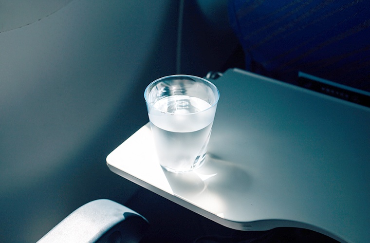 airplane tap water