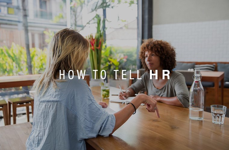 how to talk to HR about harassment