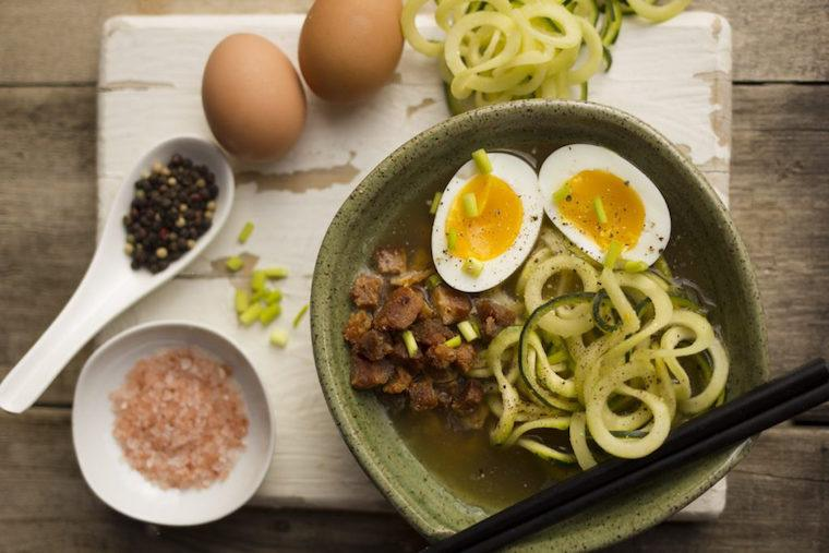 Bacon Eggs Ramen Ketogenic