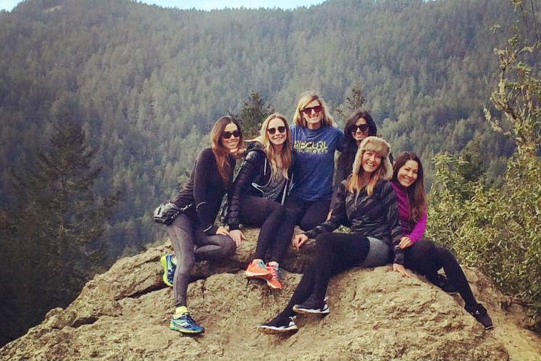 Candice Kumai encourages forest bathing with friends.