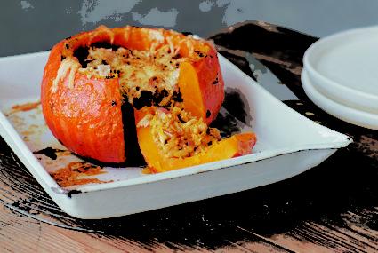 This stuffed pumpkin recipe is hygge season perfection