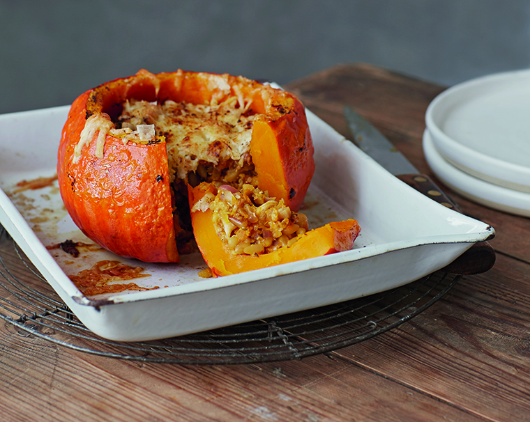 Thumbnail for This stuffed pumpkin recipe is hygge season perfection