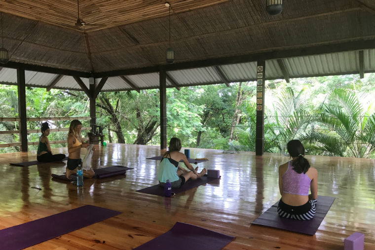 Yoga in Santa Teresa, Costa Rica