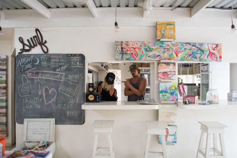 Zwart cafe in Costa Rica