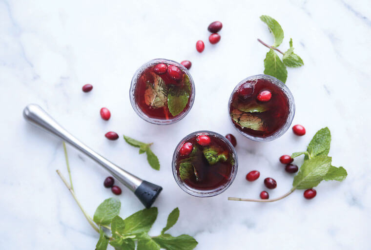 Cranberry Mojito Mocktail Recipe