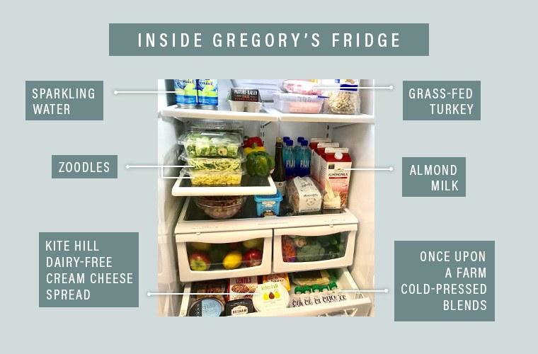 Gregory's Coffee fridge interior