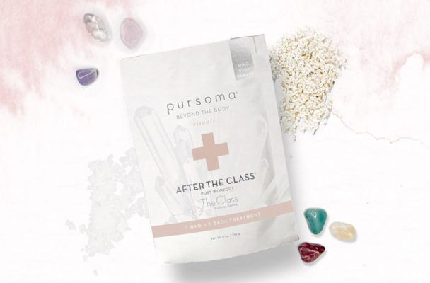 Taryn Toomey and Pursoma just dropped a crystal-infused, magnesium-rich bath soak