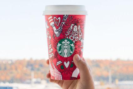 Starbucks' holiday cup is the answer to your mood-boosting coloring-book prayers