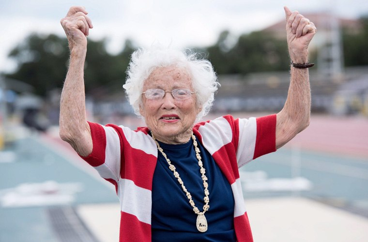 Thumbnail for This record-setting, 101-year-old new runner will inspire you to accomplish *everything*