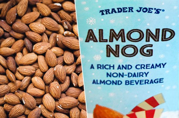 Trader Joe's almond nog is a low-fat, dairy-free holiday dream come true