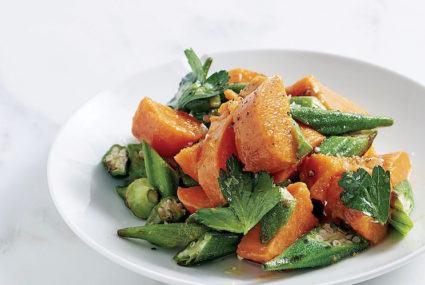 The delish okra and sweet potato salad recipe Rocco Dispirito developed on a dare