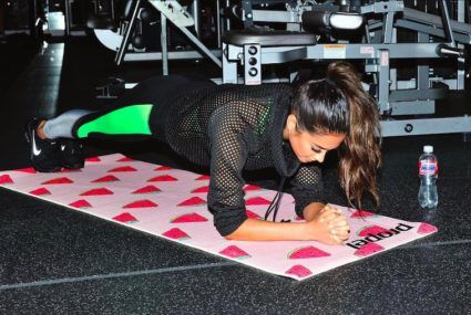 Here's how to turn a treadmill into a Pilates reformer and do Shay Mitchell's hardcore ab workout