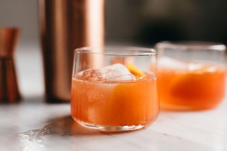 ACV turmeric bourbon cocktail