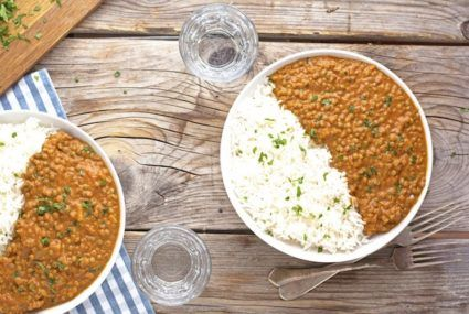 Whip up this vegan curry slow-cooker recipe for your next cozy gathering
