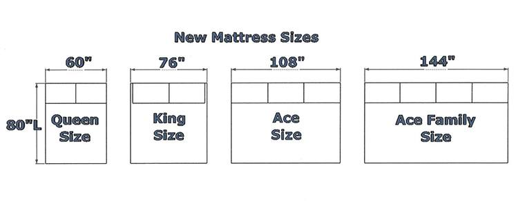 12 foot wide mattress