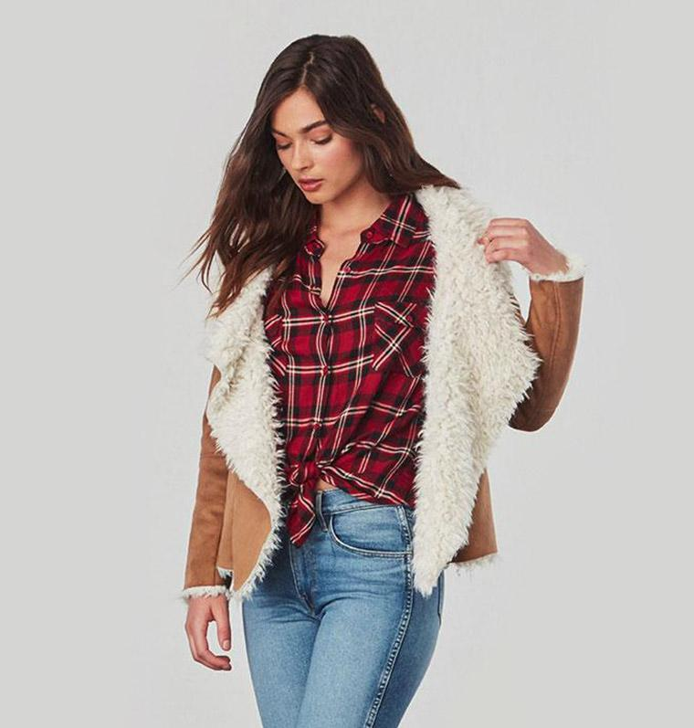 BB Dakota fawn shearling coat