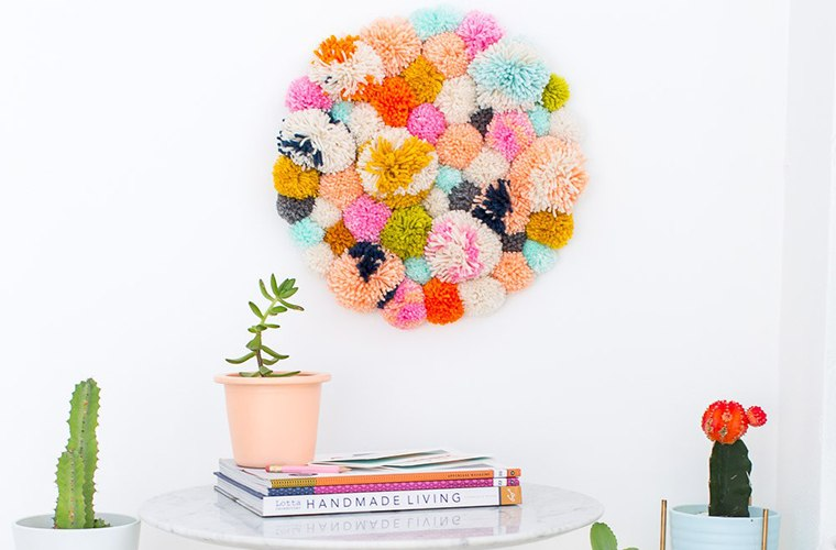 pompom wall hanging