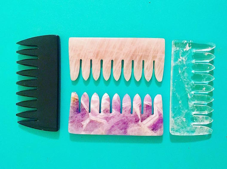 Thumbnail for Crystal hair combs exist and they'll seriously up your self-care game