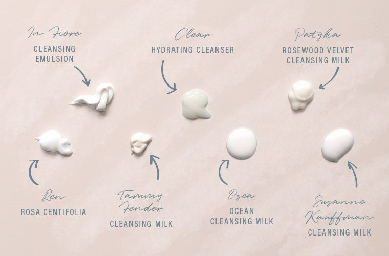 Milky cleansers