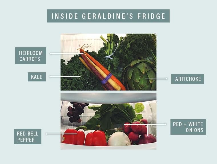Geraldine's refrigerator produce drawer