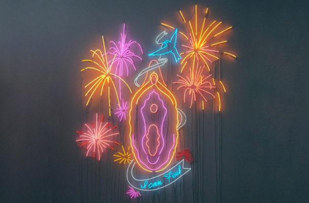 Art Basel's must-see (and 'gram) piece is an NSFW pleasure-inspired neon vagina
