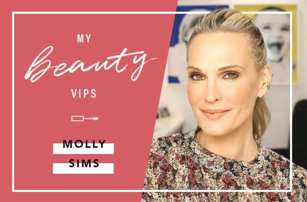 The beauty products that make Molly Sims look *way* more rested than she feels