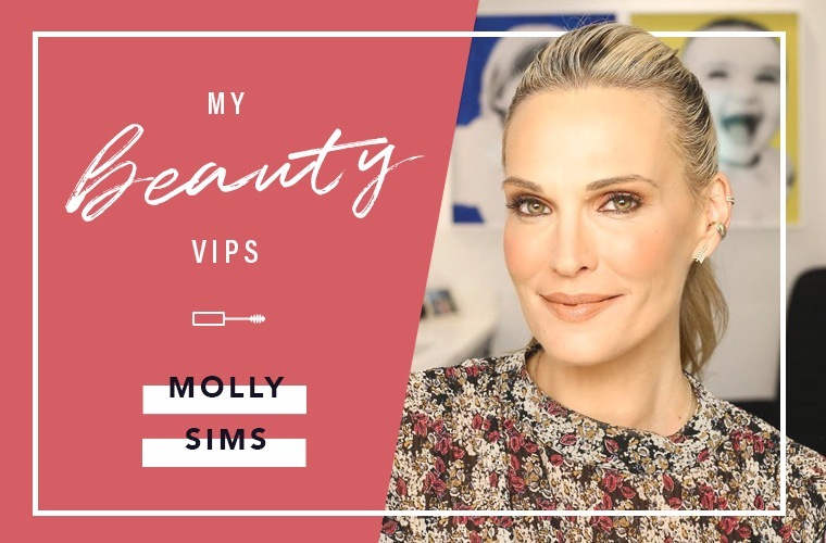 Thumbnail for The beauty products that make Molly Sims look *way* more rested than she feels