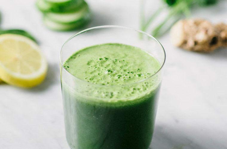 Green juice as a healthy breakfast.