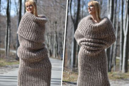 Is this full-body, human-burrito scarf the most hygge source of warmth ever?
