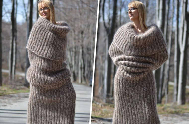 Thumbnail for Is this full-body, human-burrito scarf the most hygge source of warmth ever?