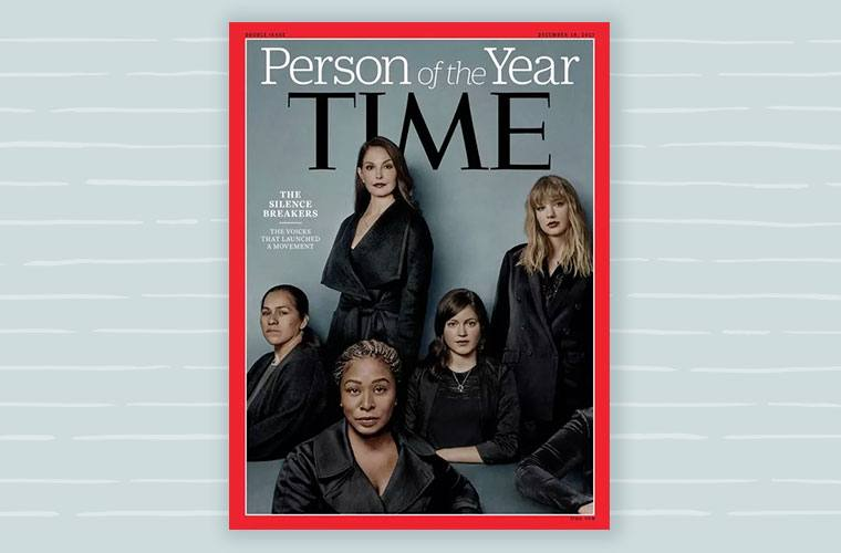Thumbnail for Time spotlights the #MeToo movement with its Person of the Year cover