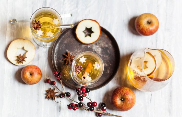 Healthy apple cider vinegar holiday cocktails