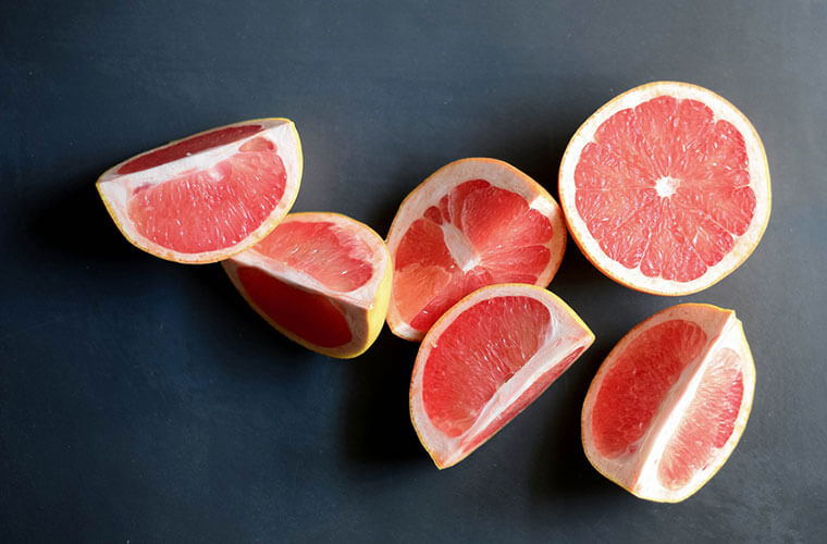 Grapefruit pith helps boost your mood.