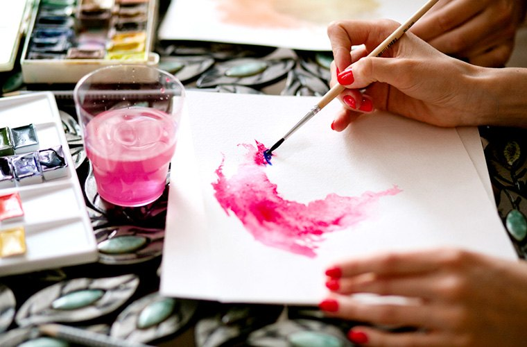 Paint with family to unplug.