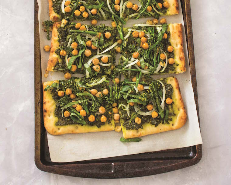 Thumbnail for Refuel post-workout with this protein-packed kale pesto flatbread pizza
