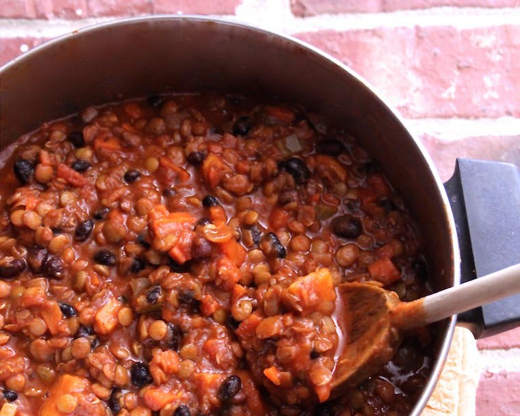 This vegetarian chili recipe with sweet potato is about to be your new go-to