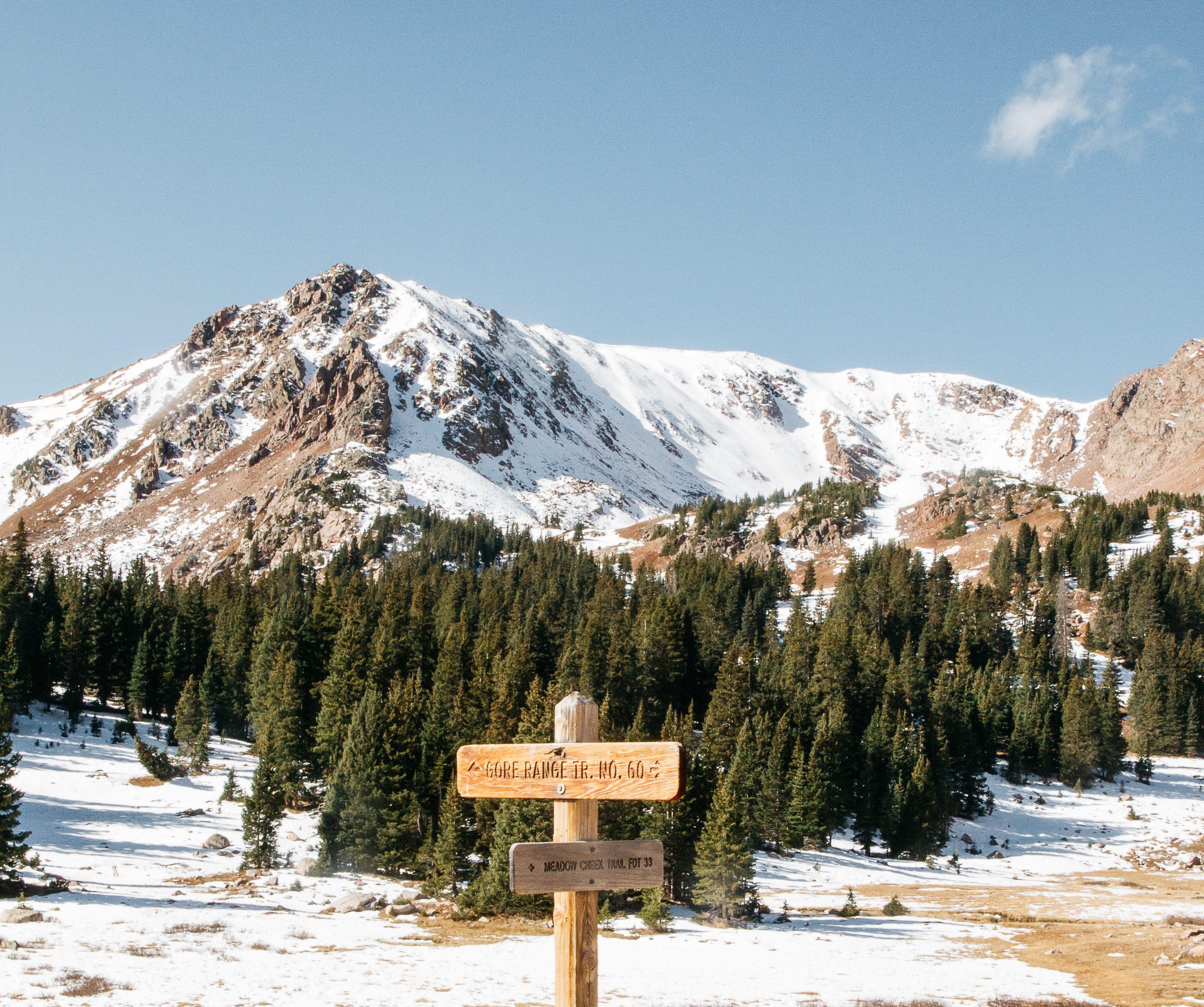 Walking in Colorado mountains to unplug.