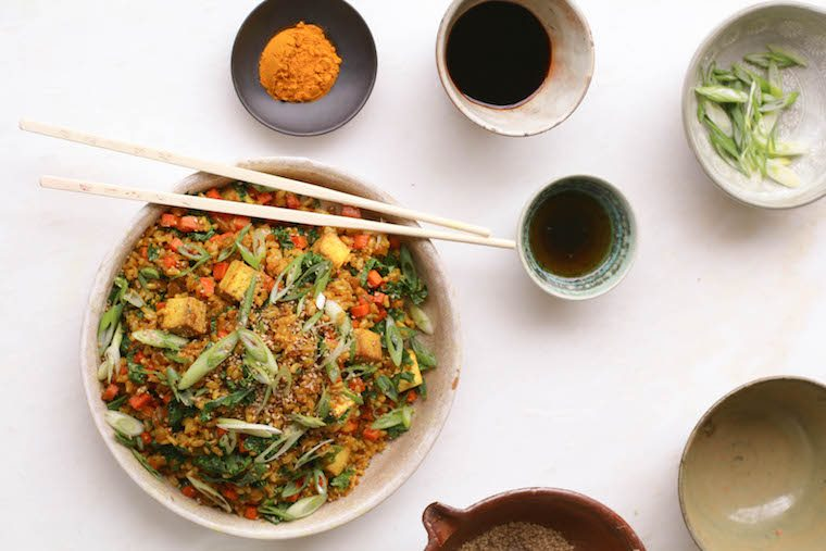 Candice Kumai turmeric kale fried rice