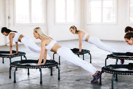 Exclusive: Bounce back into your fitness routine with this 5-minute trampoline workout from Body By Simone
