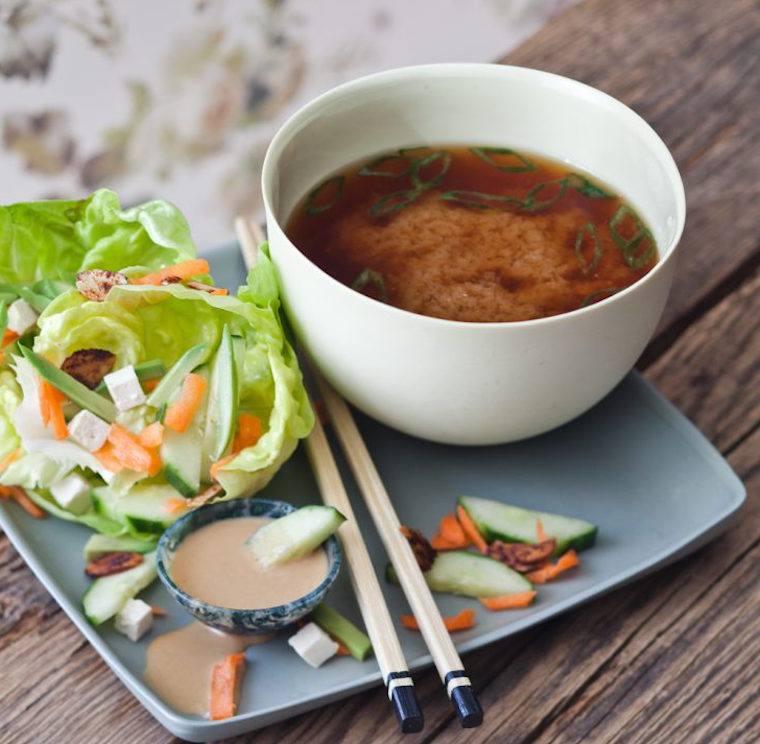 Candice Kumai miso salad recipe