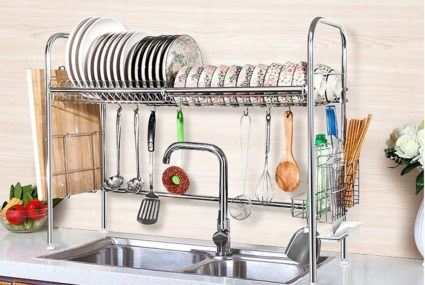 Have a tiny kitchen? This genius dish drying rack will change your life