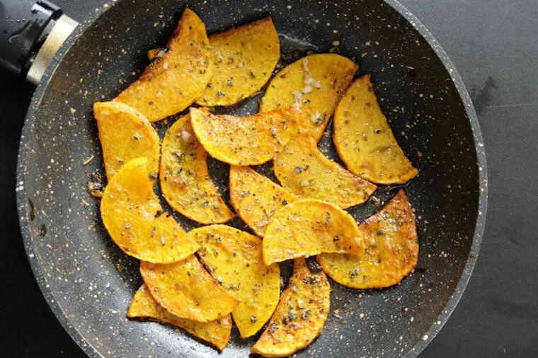 Ketogenic butternut squash fry chips