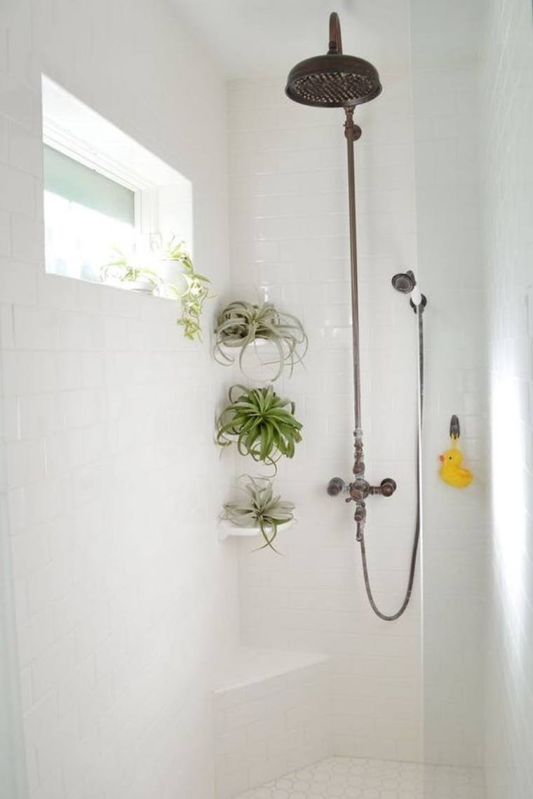 Bathroom Plants Part - 36: Scroll Down To See 7 Vibrant And Lush Shower Plants And Bathroom Garden  Escapes For #inspo.