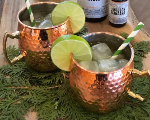 This spiced-up version of a Moscow mule uses turmeric *and* apple cider vinegar