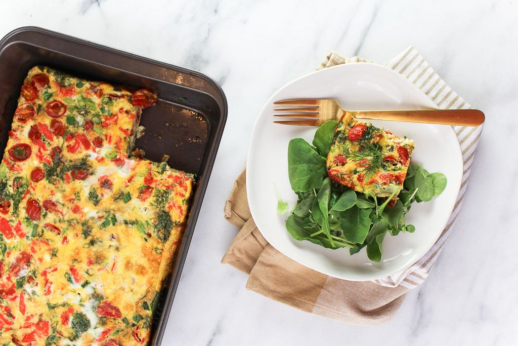 THIS SMOKED SALMON FRITTATA INSTANTLY UPGRADES YOUR WEEKEND BRUNCH