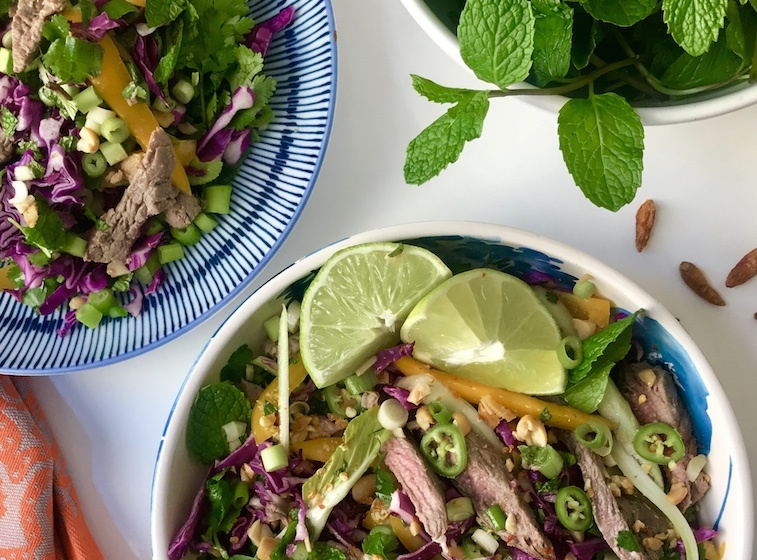 Thumbnail for Beat salad fatigue with this Paleo Thai beef salad