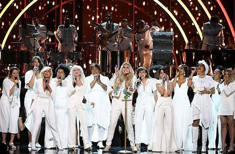 Thumbnail for Watch Kesha's Grammys performance for major #MeToo inspo