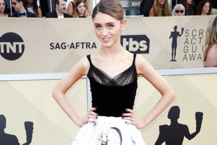 How Natalia Dyer's SAG Awards gown doubles as a chic horoscope reading